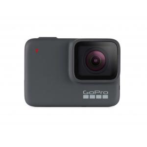 GoPro Hero 7 Silver - Comenzi vocale, Stabilizare video, GPS, Rezistent la apa, 4k30/1080p60