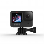 GoPro HERO9 Black, 5K30, 20MP, HyperSmooth 3.0, ecran frontal color + Shorty