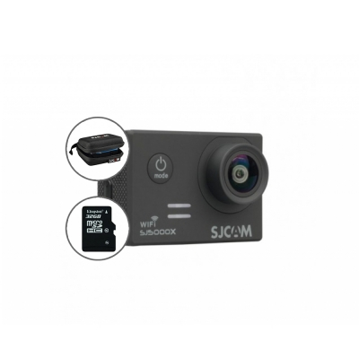 Cameră Sport SJCAM SJ5000X Elite, Video 4K + geanta si card 16GB gratuit