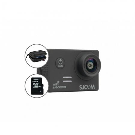 Cameră Sport SJCAM SJ5000X Elite, Video 4K + geanta si card 16GB gratuit