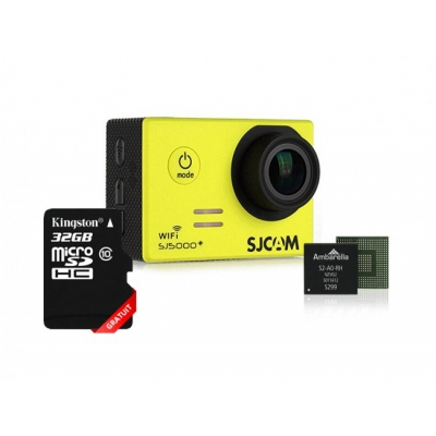Cameră Sport SJCAM SJ5000 Plus, Full HD 1080P@60FPS, Foto 16MP, Senzor optic Panasonic, Lentile 7G, WiFi + Card 32GB gratuit