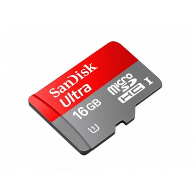 16 GB Micro SDHC UHS-I Sandisk Ultra