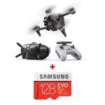 "DJI FPV Combo, 4K @ 60fps, Senzor CMOS 1/2.3"", 12MP, Autonomie maxima 20 min + card Samsung Evo Plus 128GB"