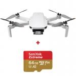 DJI Mini 2, Gimbal 3 axe, 4K, Autonomie 31 min, 249g + card Sandisk Extreme 64GB