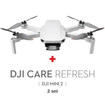 DJI Mini 2, Gimbal 3 axe, 4K, Autonomie 31 min, 249g + Asigurare Care Refresh 2 ani