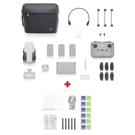DJI Mini 2 Fly More Combo, Gimbal 3 axe, 4K, Autonomie 31 min, 249g + Kit creativ DIY cadou