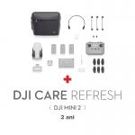 DJI Mini 2 Fly More Combo, Gimbal 3 axe, 4K, Autonomie 31 min, 249g + Asigurare Care Refresh 2 ani