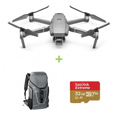 Drona DJI Mavic 2 PRO + card Sandisk Extreme 64GB cadou + Rucsac Manfrotto Hover 25 ideal pentru drona/foto/laptop