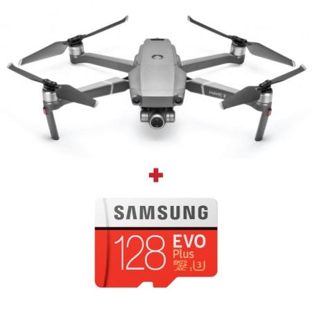 DJI Mavic 2 Zoom, Camera 4K, Zoom 4×, Autonomie 31 min., OcuSync 2.0 + card Samsung Evo Plus 128GB