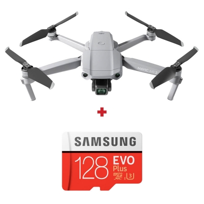 DJI Mavic Air 2, Gimbal 3 axe, 12MP, 48MP, Video 4K, Autonomie 34min, 570g + card Samsung Evo Plus 128GB