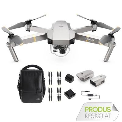 DJI Mavic Pro PLATINUM Fly More Combo , 4K, 12MP, Autonomie 30 min (Resigilat)