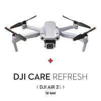 """DJI Air 2S, 1"""" CMOS 20MP, 5.4K@30fps, Autonomie 31 min, Sistem de evitare obstacole din 4 directii + Asigurare DJI Care Refresh (12 luni)"""