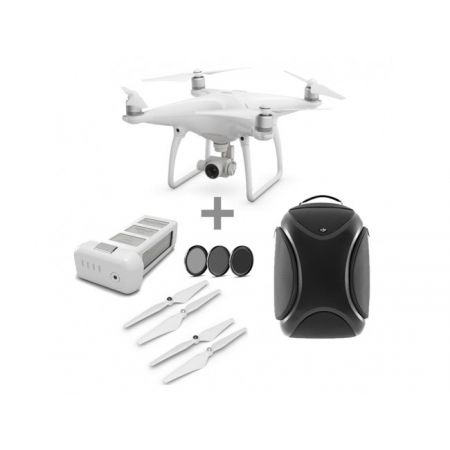 Drona DJI Phantom 4 + Extra baterie + Rucsac Hardshell DJI + Filtru + 2 Seturi elice