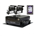 Sistem DVR AUTO G40 + 2 Camere IR + HDD 1TB, Video HD 1280x720P, 4 Canale