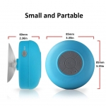 Boxa de dus cu difuzor Bluetooth, Rezistenta la apa, Wireless, Microfon incorporat