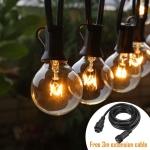 Instalatie luminoasa cu 25 Leduri Edison G40 pt Craciun, Foisor, Pensiune - Exterior
