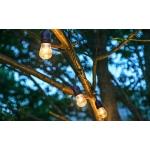Instalatie luminoasa cu 15 Leduri Edison E27 pt Craciun, Foisor, Pensiune, Petreceri - Exterior