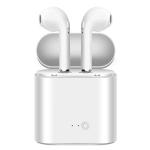 Casti tip airpods i7 pentru smartphone TWS 2018, conectare bluetooth, albe