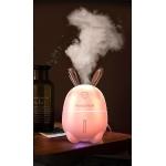 Umidificator Iepuras ultra-silentios, Aroma difuzor ulei ideal pentru birou, masina, dormitor