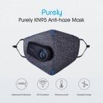 Masca smart KN95, Xiaomi Purely cu Sistem de Ventilatie, 3 Viteze, Anti Poluare, Anti Praf