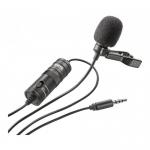 Microfon Lavaliera MC1 pentru Vlogging, Live Streaming, Interviu, Public Speaking, Compatibila cu DSLR, Telefon, Reportofon, PC, 6m Lungime