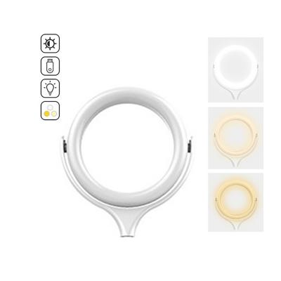 Lampa circulara Ring Light, rotatie 360 grade, 10 trepte lumina, 3 tipuri de lumina (calda, mixta, alba) pentru Make-up / Lumina vlogging + Trepied
