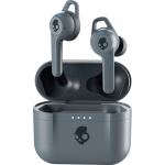 Casti Wireless In-Ear Skullcandy Indy Fuel (True Black/Chill Grey), Autonomie 30h, Noise Cancelling & Noise Reduction, Control Tactil