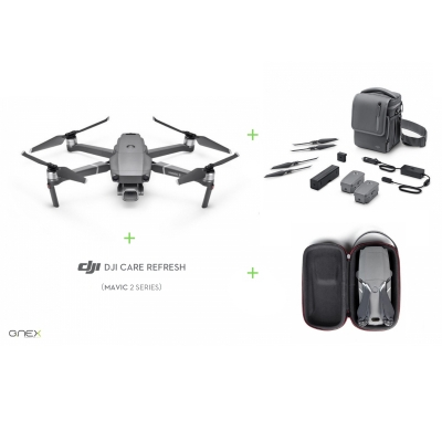Drona DJI Mavic 2 PRO Fly More Combo + DJI Care Refresh + gentuta mini PGYTECH
