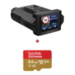 Camera auto Neoline X-COP 9300s, Radar, GPS, Full-HD, G-senzor, Parking mode + card Sandisk Exreme 64GB