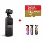 DJI Osmo Pocket + card Sandisk Extreme 64GB + Colourful skins