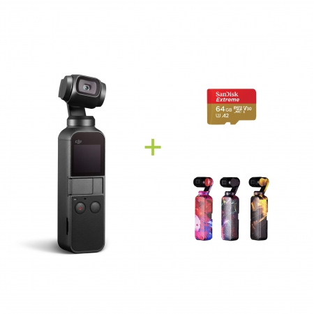 DJI Osmo Pocket + Card 64GB cadou + Colourful skins