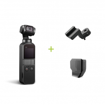 DJI Osmo Pocket + Montura Data port to ColdShoe + Protectie gimbal