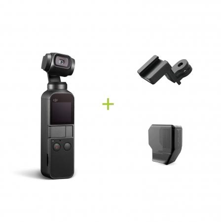 DJI Osmo Pocket + Montura Data port to ColdShoe + Protectie gimbal