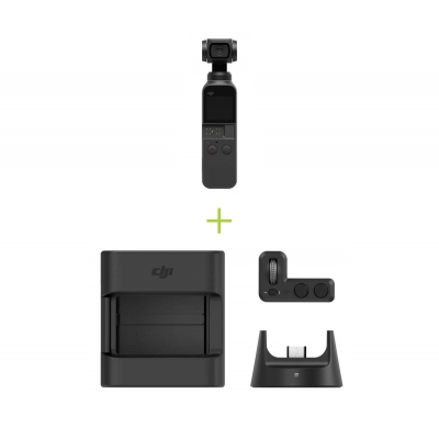 DJI Osmo Pocket in 3 axe, 4k 60fps + Expansion Kit