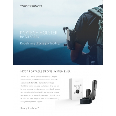 Sistem de prindere pentru mana Holster de la PGYTECH, compatibila cu DJI Spark