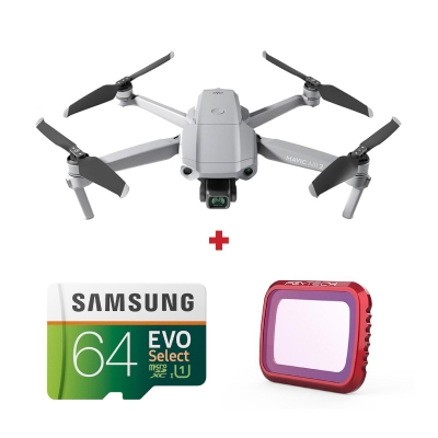DJI Mavic Air 2 + card Samsung Evo Select 64GB + Filtru UV PGYTECH