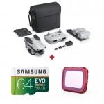 DJI Mavic Air 2 Fly More Combo + card Samsung Evo Select 64GB + Filtru UV PGYTECH