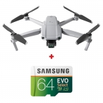 DJI Mavic Air 2, Gimbal 3 axe, 12MP, 48MP, Video 4K, Autonomie 34min, 570g + card Samsung Evo Select 64GB