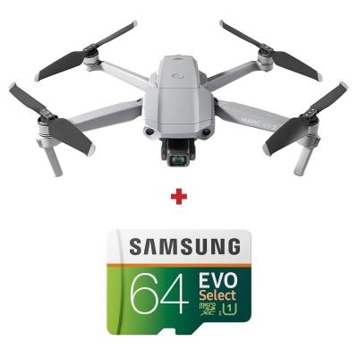 DJI Mavic Air 2, Gimbal 3 axe, 12MP, 48MP, Video 4K, Autonomie 34min, 570g + card Samsung Evo Select 64GB