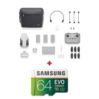 DJI Mini 2 Fly More Combo, Gimbal 3 axe, 4K, Autonomie 31 min, 249g + card Samsung Evo Select 64GB