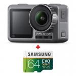Camera Sport DJI Osmo Action + card Samsung Evo Select 64GB