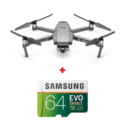 DJI Mavic 2 Zoom, Camera 4K, Zoom 4×, Autonomie 31 min., OcuSync 2.0 + card Samsung Evo Select 64GB