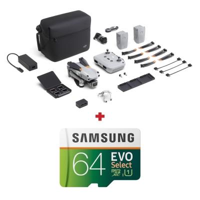 "DJI Air 2S Fly More Combo, 1"" CMOS 20MP, 5.4K@30fps, Autonomie 31 min + card Samsung Evo Select 64GB"