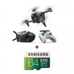 "DJI FPV Combo, 4K @ 60fps, Senzor CMOS 1/2.3"", 12MP, Autonomie maxima 20 min + card Samsung Evo Select 64GB"