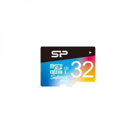 Card de memorie Silicon Power MicroSD 32GB Superior UHS-1 U3. UHS-3, cu Adaptor
